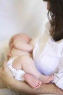 breastfeeding baby's feet
